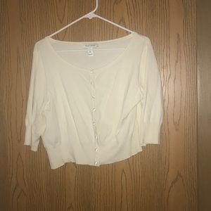 Cream cropped cardigan